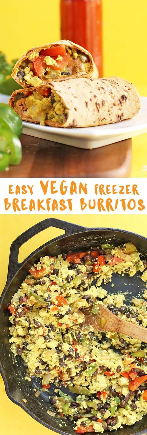 Make a batch of these easy vegan Southwest Breakfast Burritos and stick them in your freezer for a quick grab-n-go breakfast all week long.