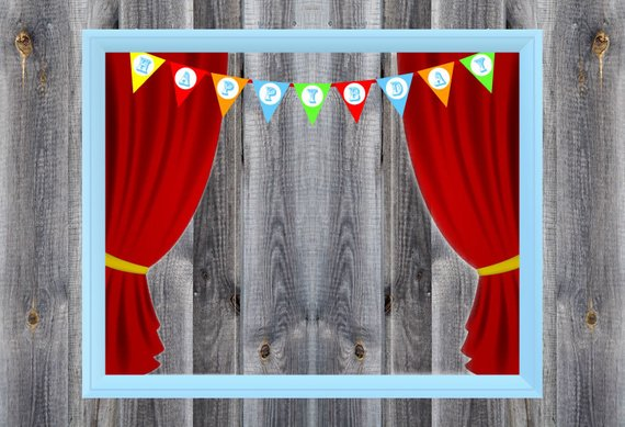 carnival circus birthday party theme photo booth. Black Bedroom Furniture Sets. Home Design Ideas