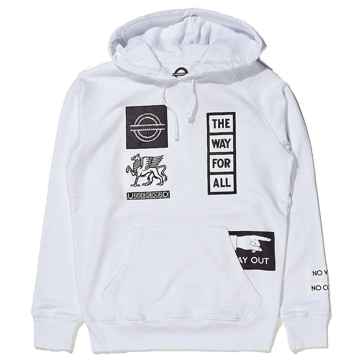 Patched French Terry Hoodie - Slam Jam Socialism