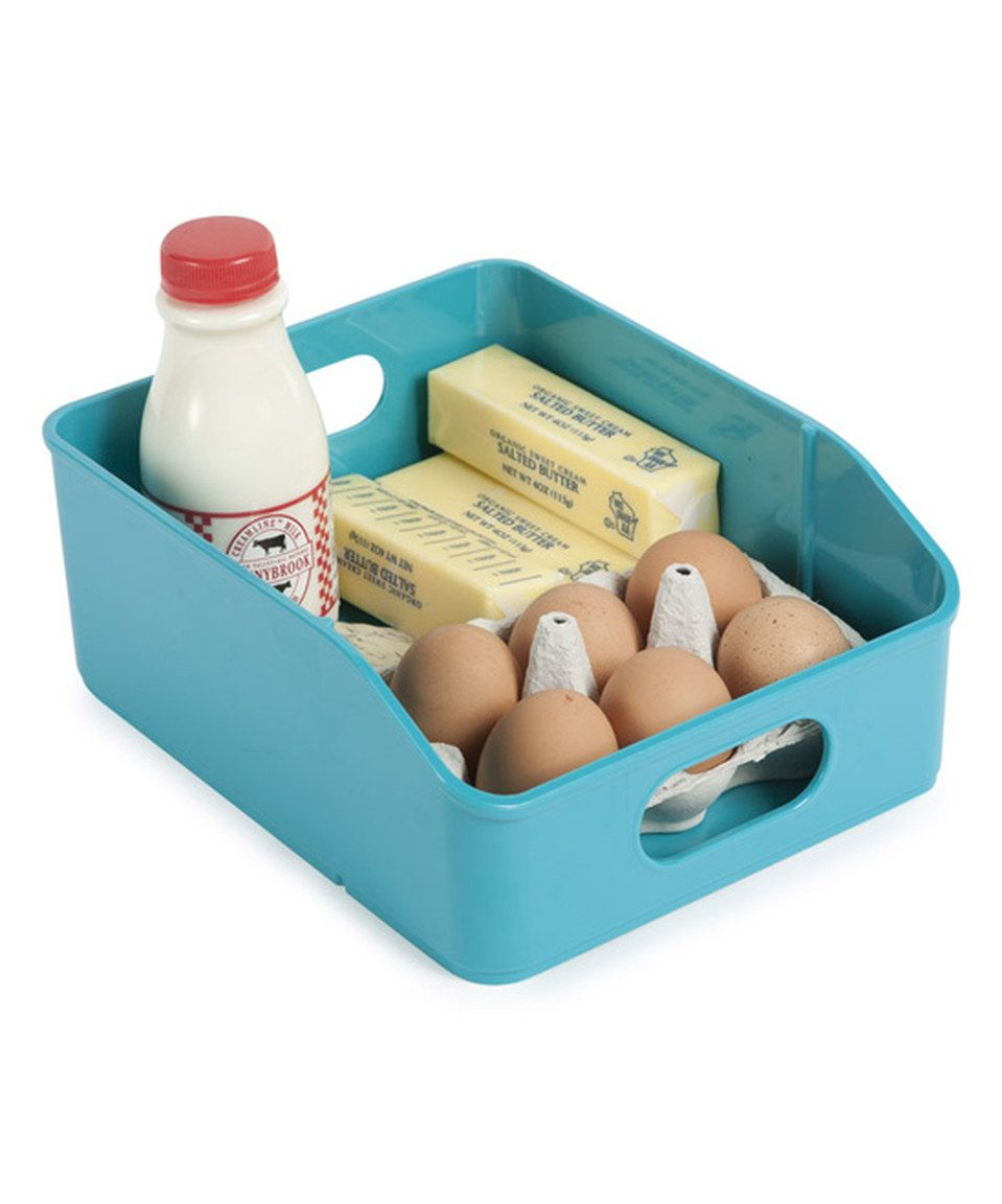Another great find on #zulily! Teal Stacking Fridge Bin by Core ...