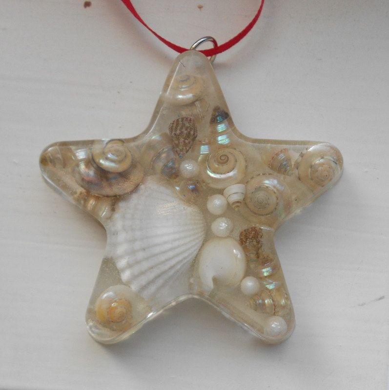 Real Sea Shells Star Ornament