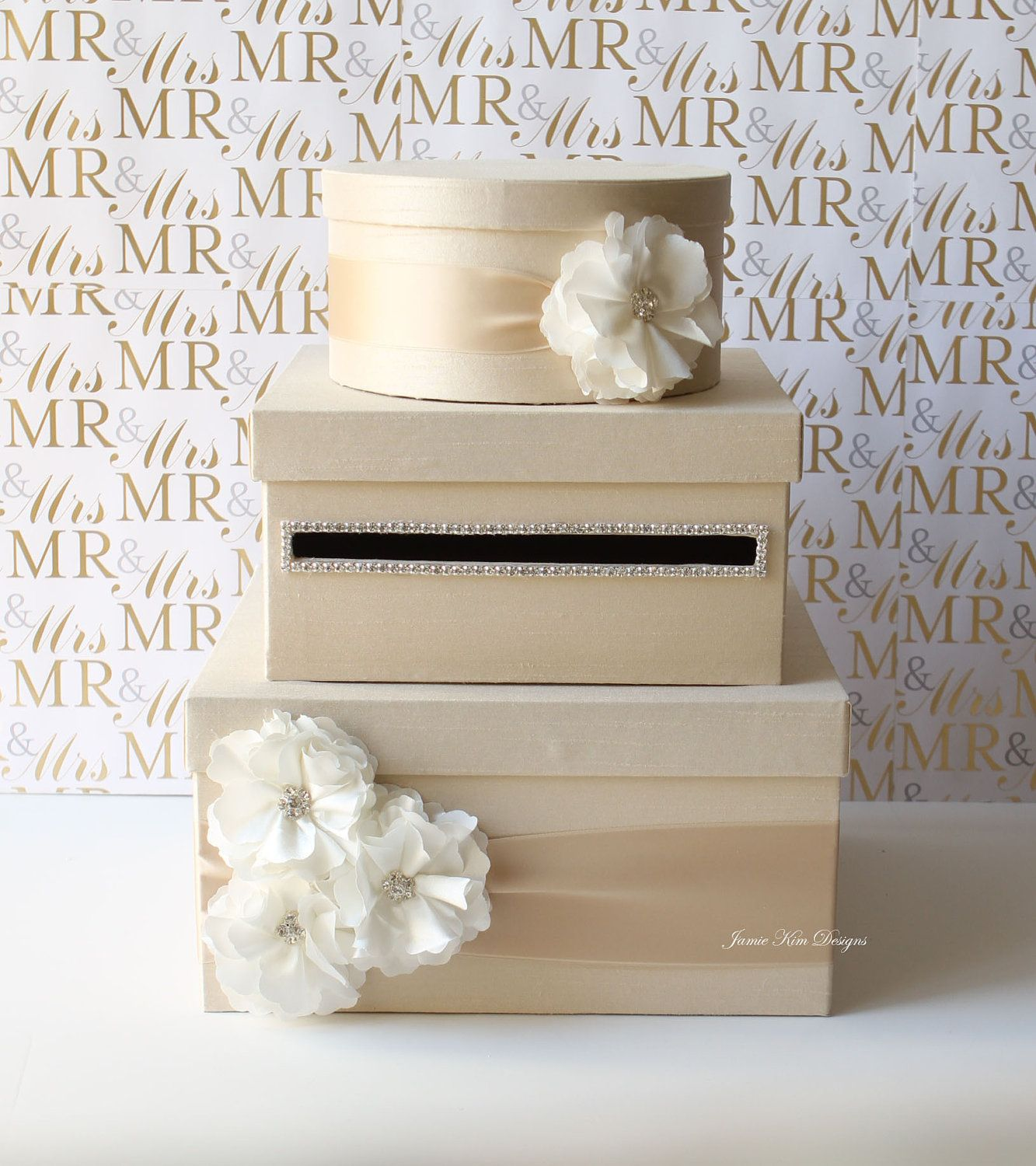 Wedding Card Box Sold on etsy but could be a diy with shoe boxes