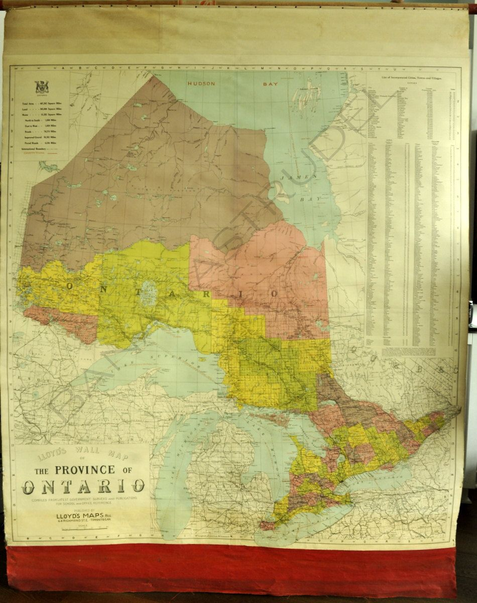 1931 Vintage Map of the Province of