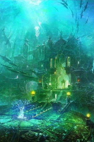 art atlantis underwater world aqua turquoise lime in 2018