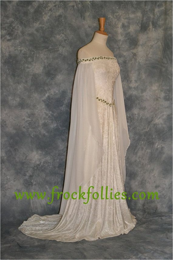 Medieval Dress Elvish Wedding Dress Handfasting Dress | Guinevere ...