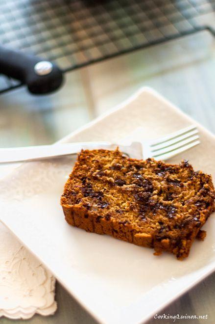 Chocolate Chip Banana Quinoa Bread - Wendy Polisi