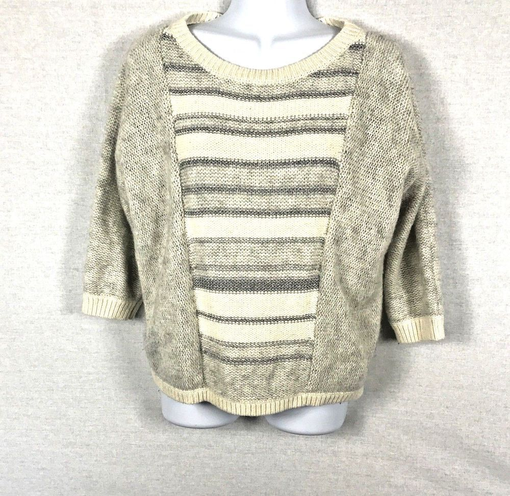 LOFT Ann Taylor Womens Cable Knit Sweater Tank Ivory