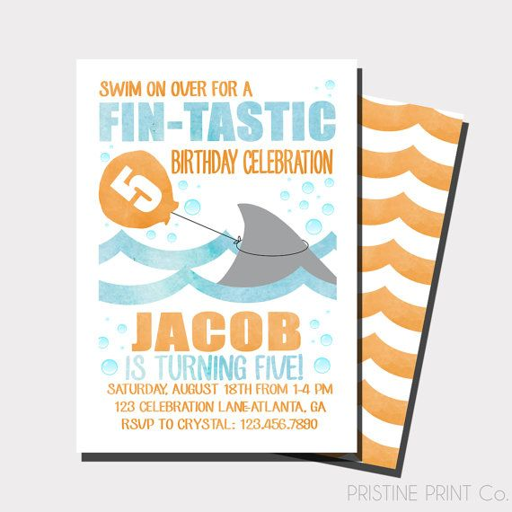 Shark birthday invitation pool party by pristineprintco on etsy shark birthday invitation pool party by pristineprintco on etsy filmwisefo