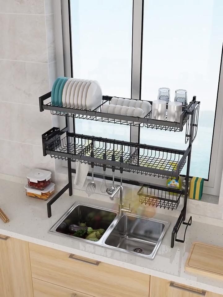 Dish Sink Drain Rack Kitchen