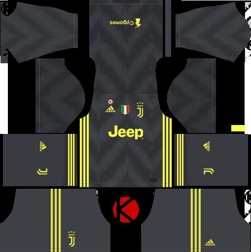 Juventus Third Kits 2018 2019 Dream League Soccer Juventus Soccer Kits Juventus Soccer