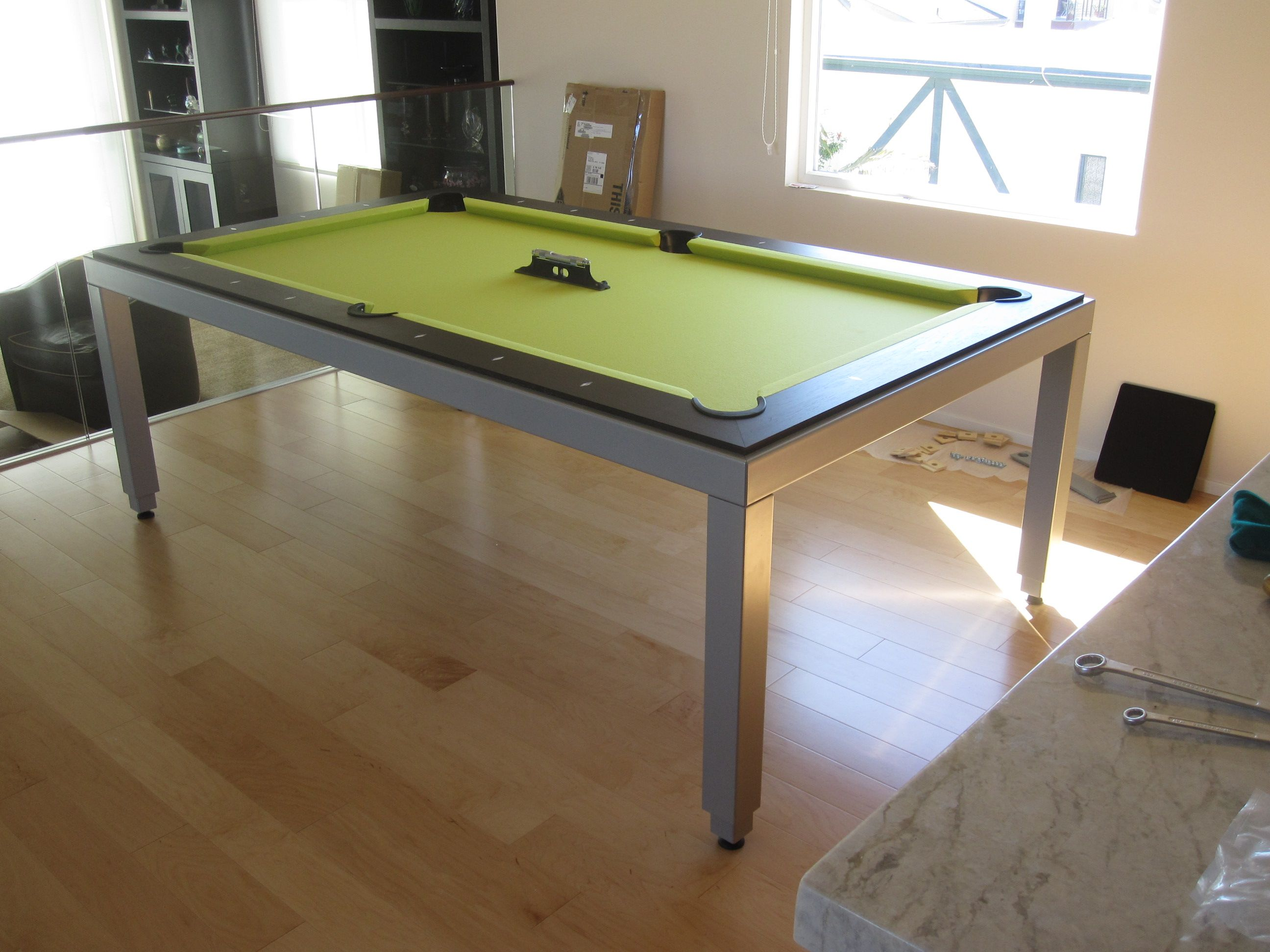 Aramith Fusion Table With A Lime Twist U2013 DK Billiards Pool Table Moving U0026  Repair #