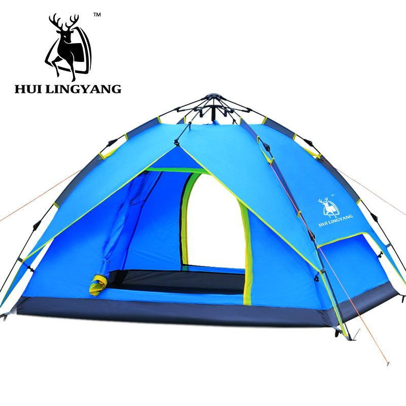 Compare Discount c&ing tent 3-4 person Hydraulic Waterproof Double Layer Outdoor Hiking Picnic tents  sc 1 st  Pinterest & Compare Discount camping tent 3-4 person Hydraulic Waterproof ...