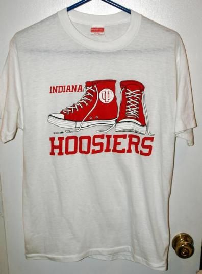 quality design 4a5bd f3afd Vtg 80s Indiana Hoosiers Chuck Taylor Converse Style T-shirt