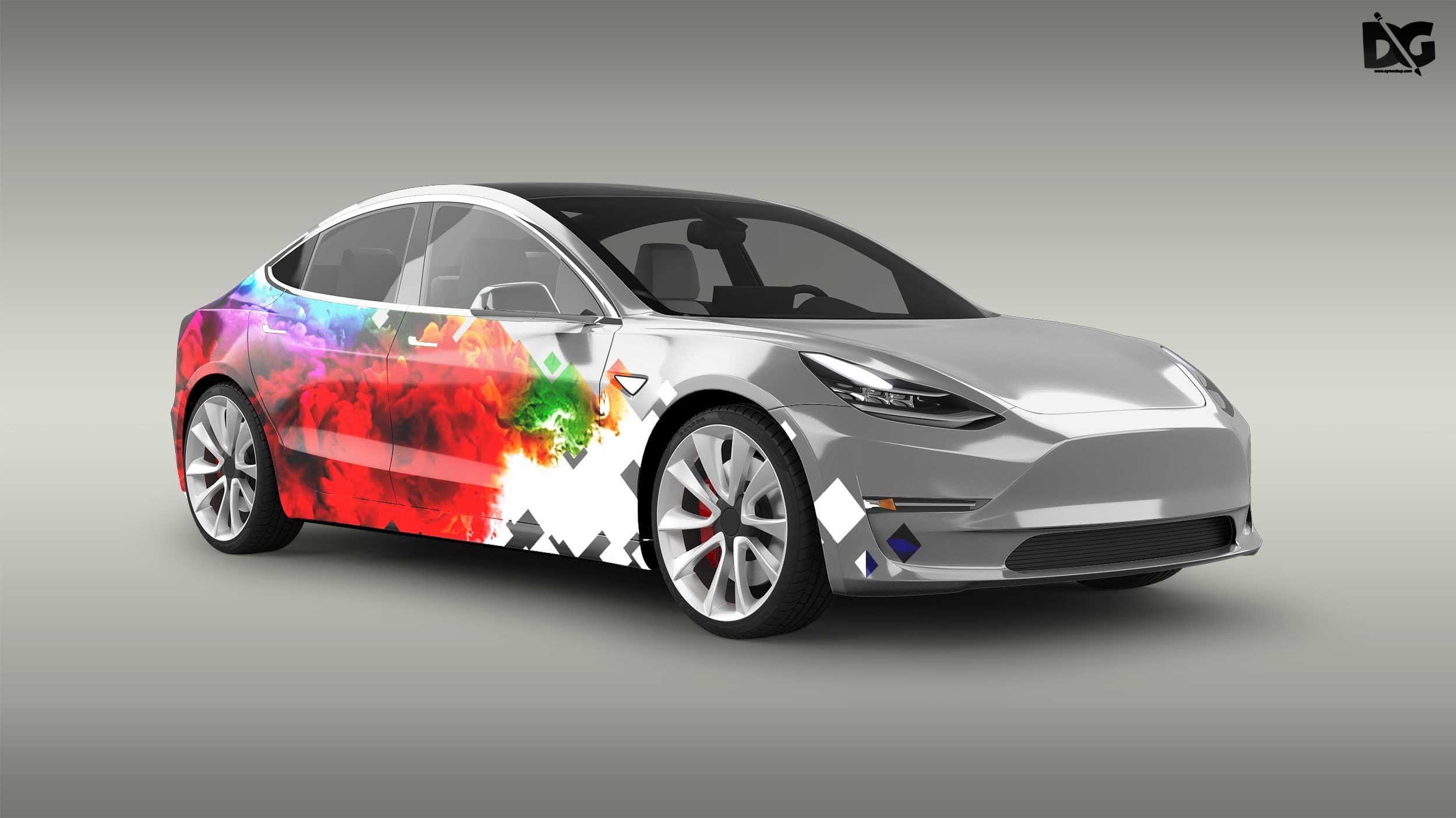 Free Beautiful A Class Car Design Mockup Design mockup