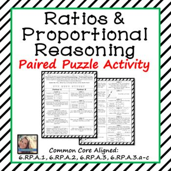 Ratios and Proportional Relationships Paired Puzzle Activity ...