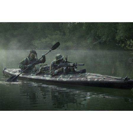 Navy Seals Navigate The Waters In A Folding Kayak During Jungle Warfare Operations Canvas Art Tom Weberstocktre Fishing Memes Fishing Humor Row Row Your Boat