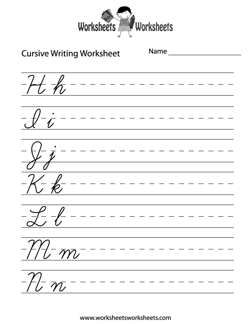 Teaching Cursive Writing Worksheet Printable - may need this because I'm  not sure if the k…   Cursive writing worksheets [ 1035 x 800 Pixel ]