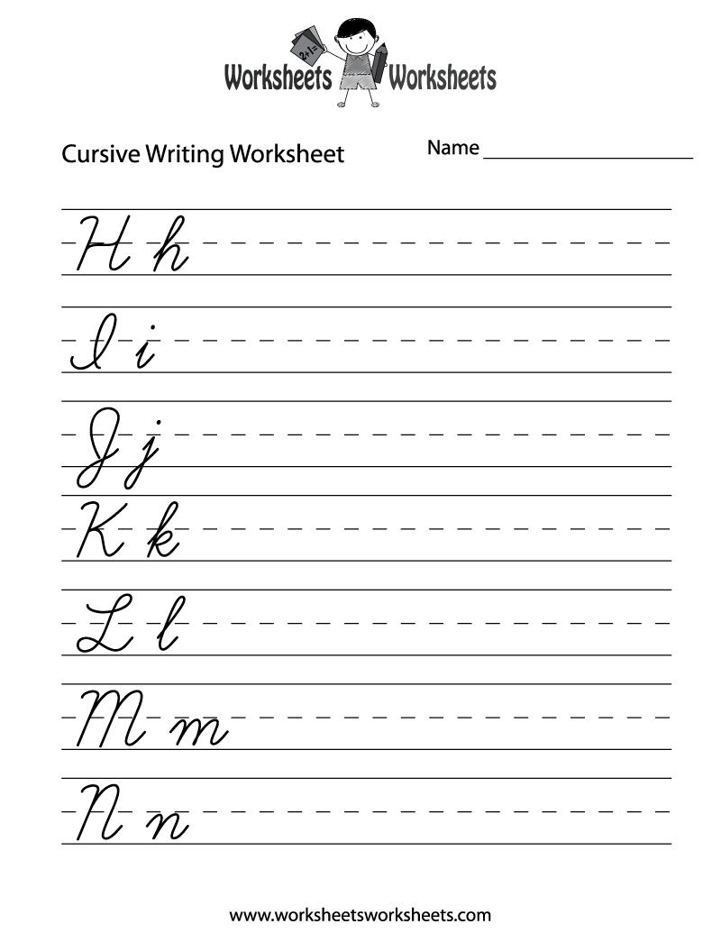 medium resolution of Teaching Cursive Writing Worksheet Printable - may need this because I'm  not sure if the k…   Cursive writing worksheets