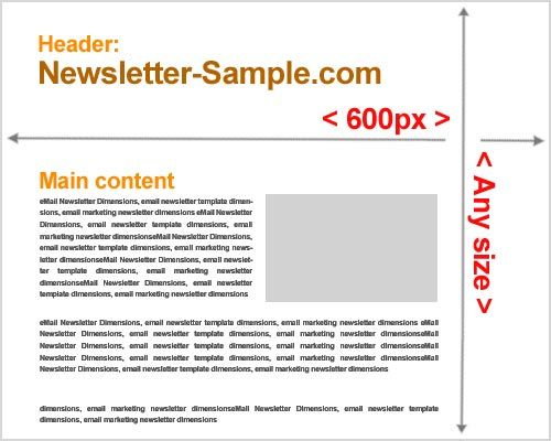 Standard size for html newsletter template, Width for Email - Sample Email Marketing