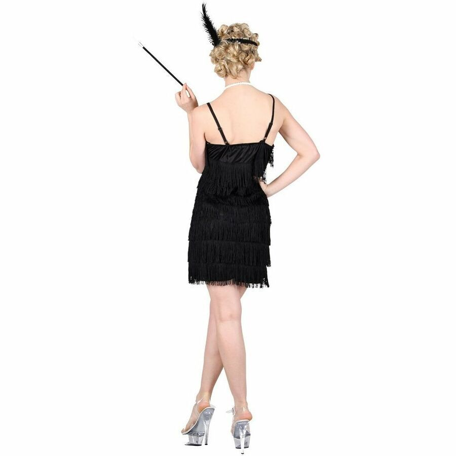 Flapper Costume Small Fancy Dress Ladies Womens 20s Charleston 1920s Short