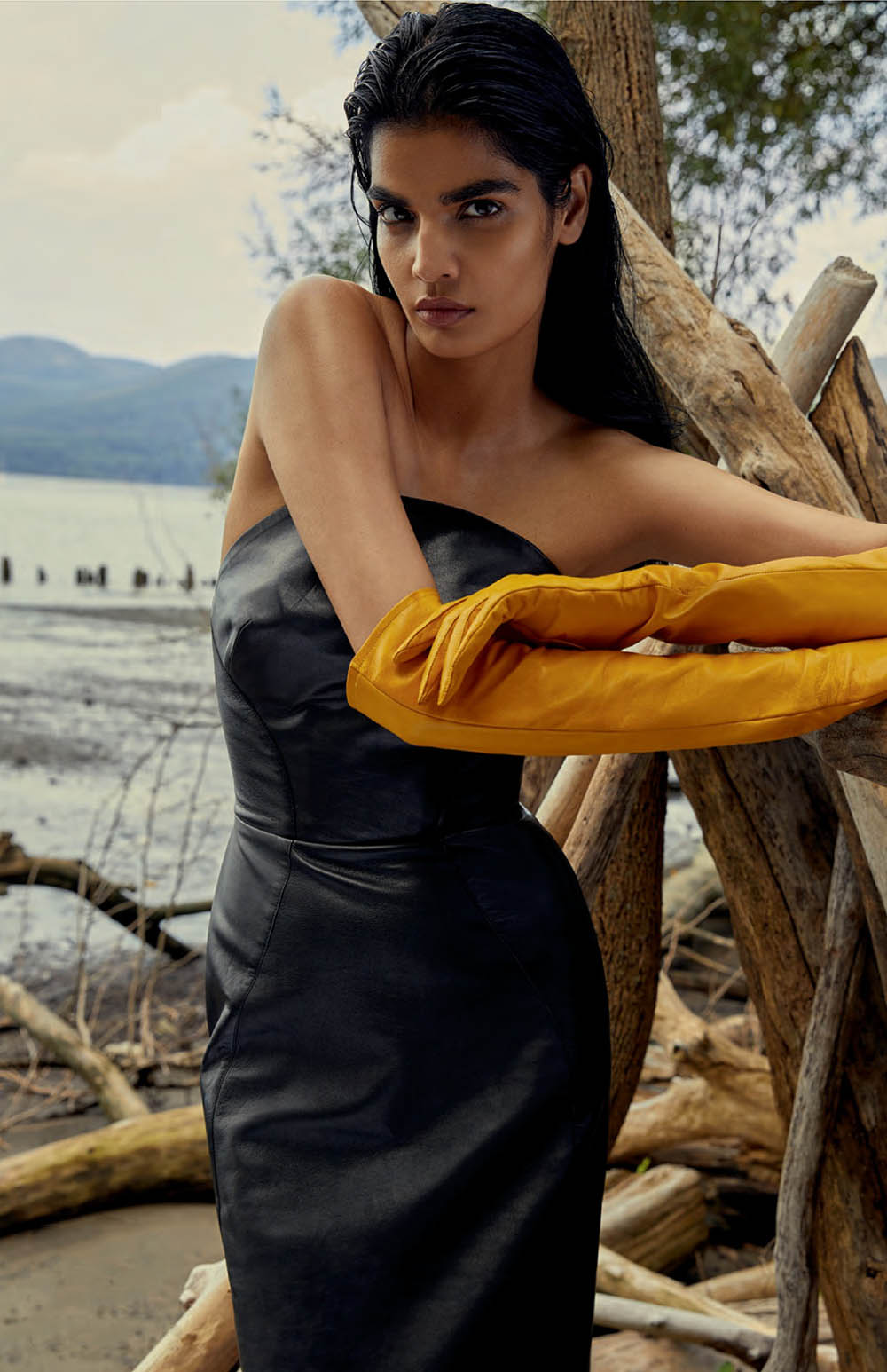 Leather Weather Bhumika Arora by Royal Gilbert for Elle