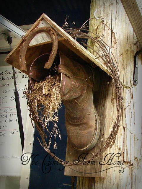 Das Country Farm Home: Ein Bootshaus und Bauernsitze #birdhouses