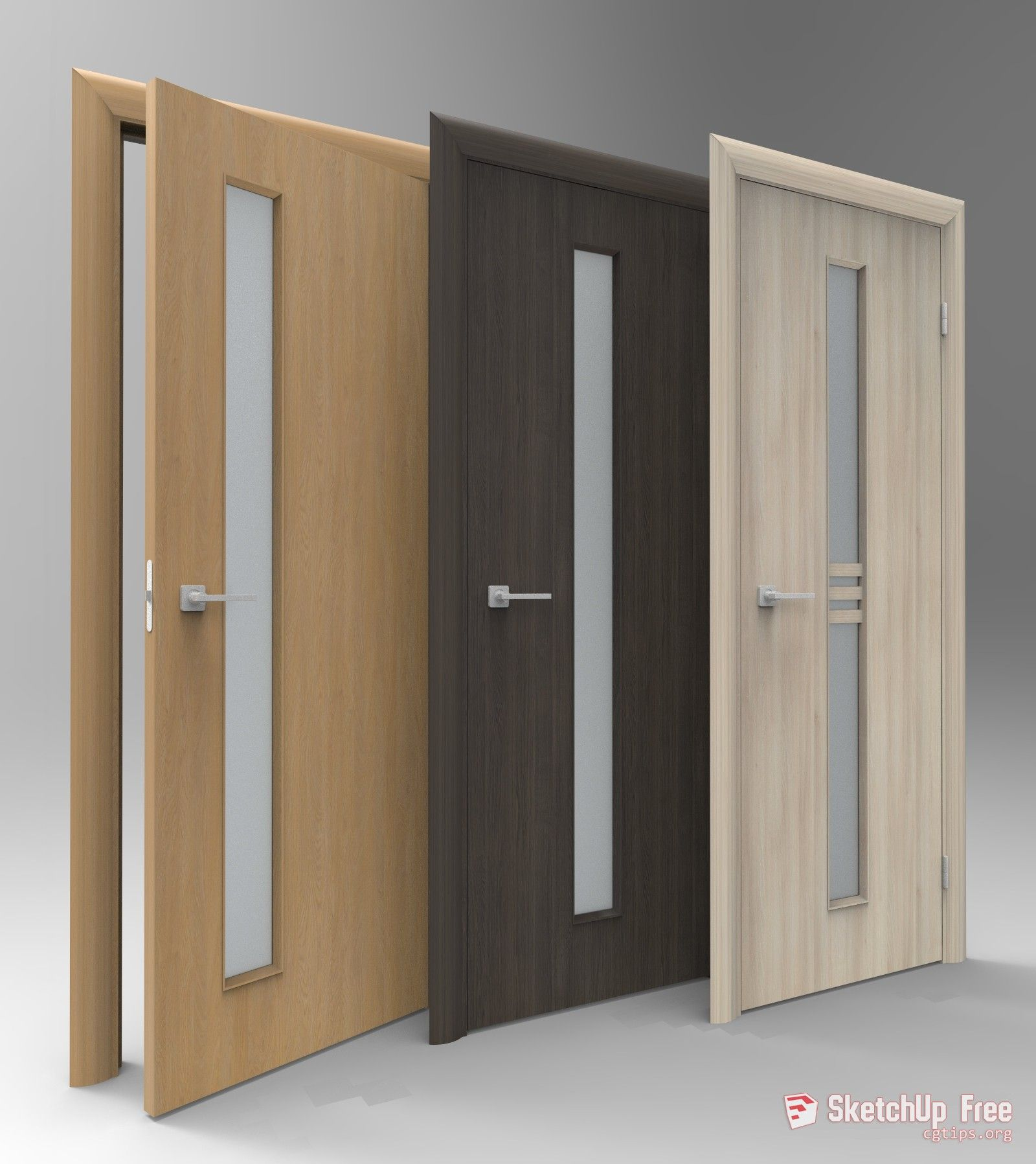 1576 Doors Sketchup Model Free Download