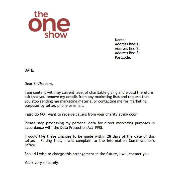 Show Offers Dona Contact Mea Letter Charities For Download