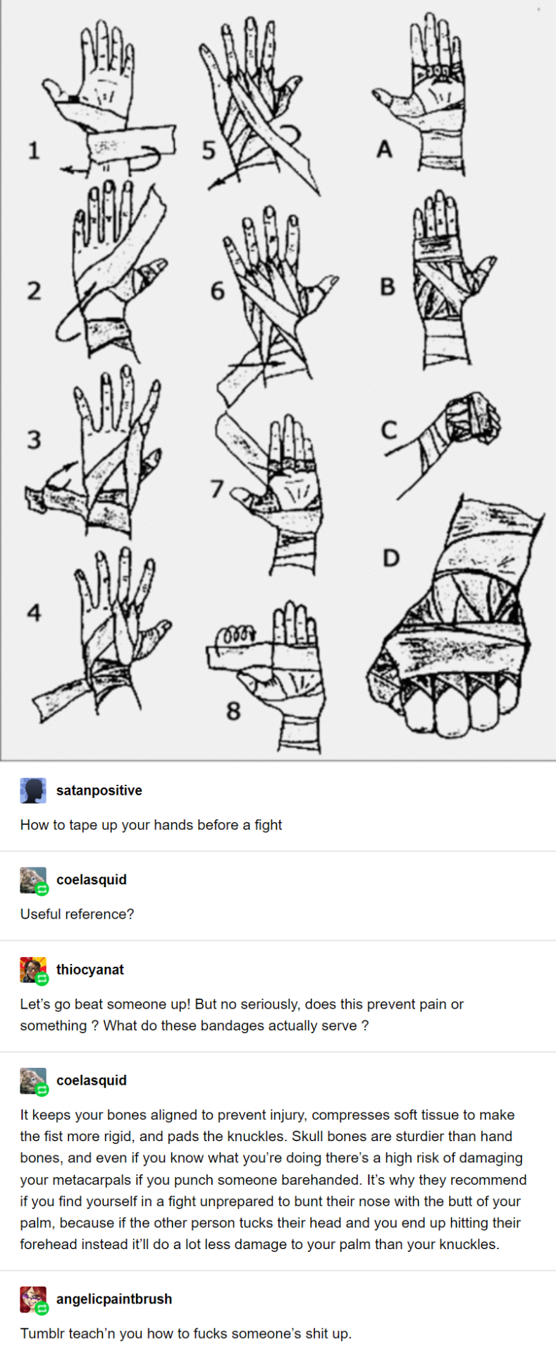 How To Wrap Your Hands Before A Fight Useful Life Hacks Fun Facts Tumblr Funny