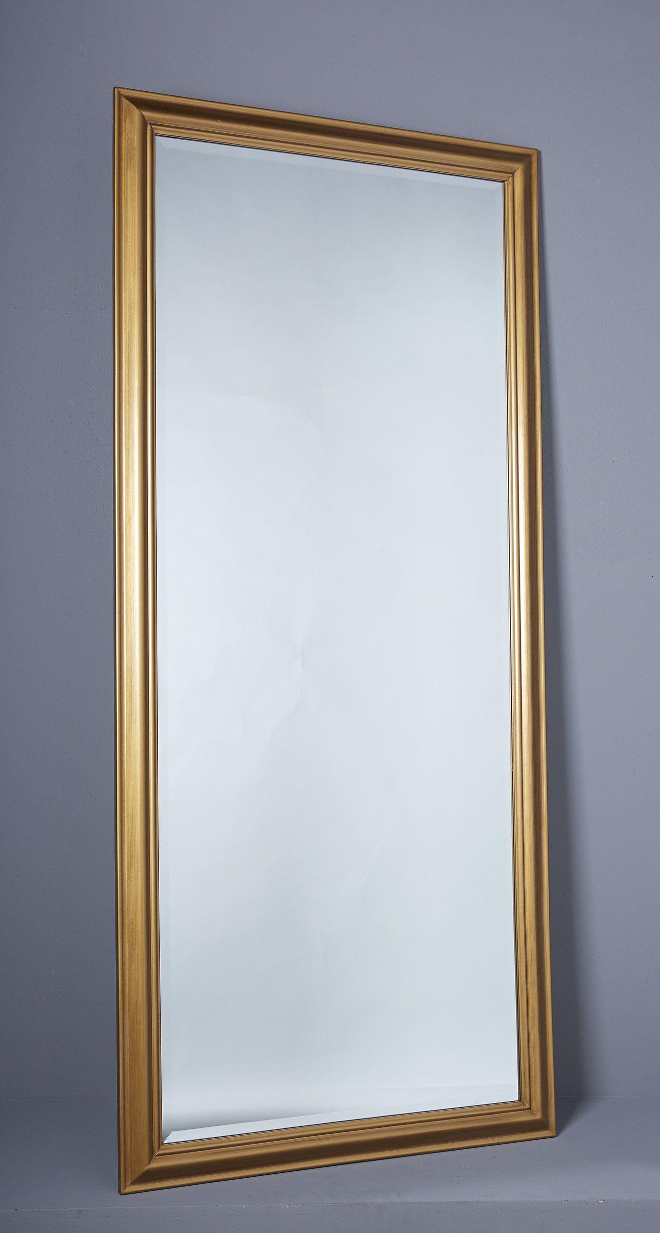 Wandspiegel Spiegel Ca 180 X 80 Cm Gold Schlichter Landhaus Stil Facettenschliff Wandspiegel Spiegel Wand