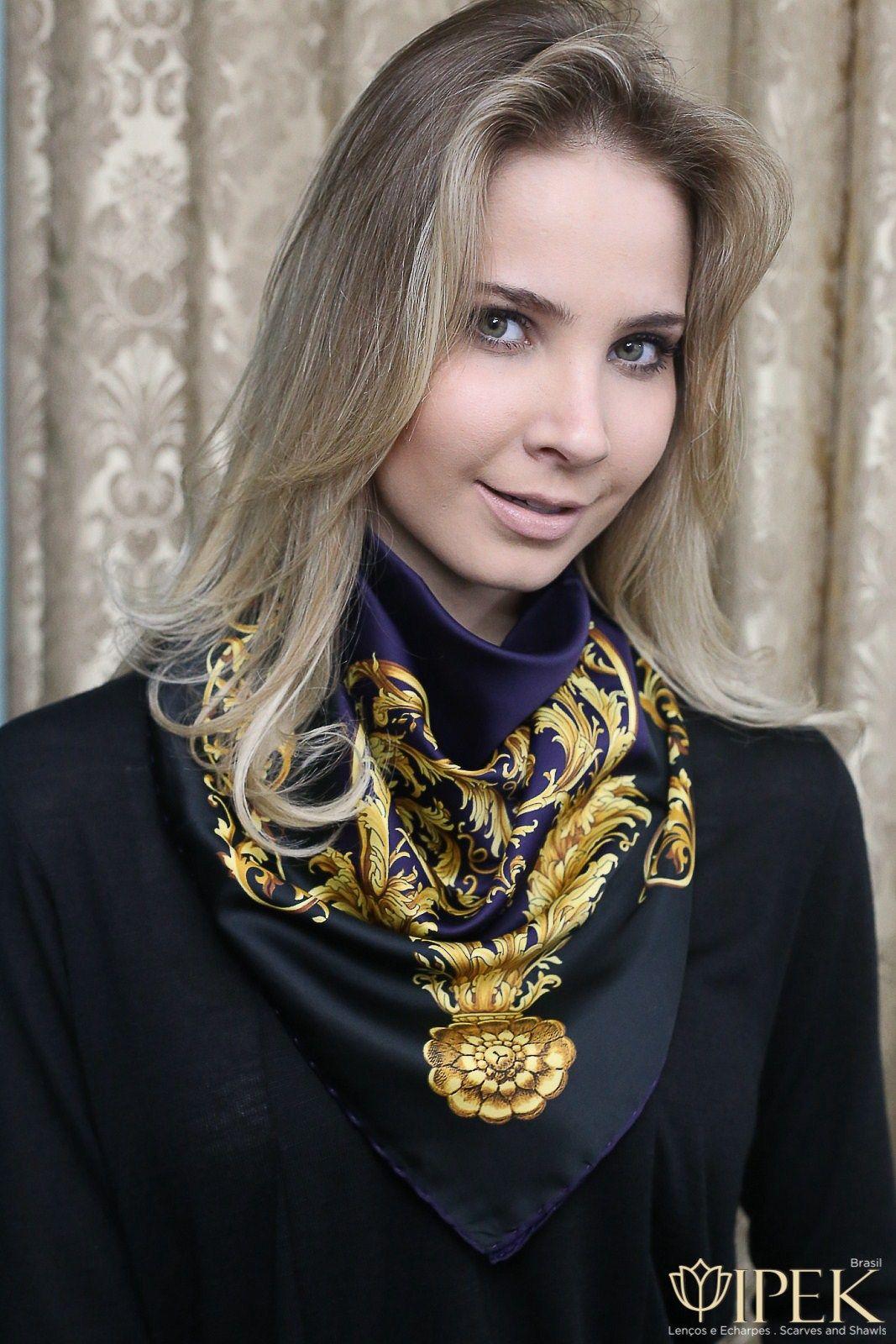 len o seda ipek brasil silkscarves my style pinterest halstuch seide und hals. Black Bedroom Furniture Sets. Home Design Ideas
