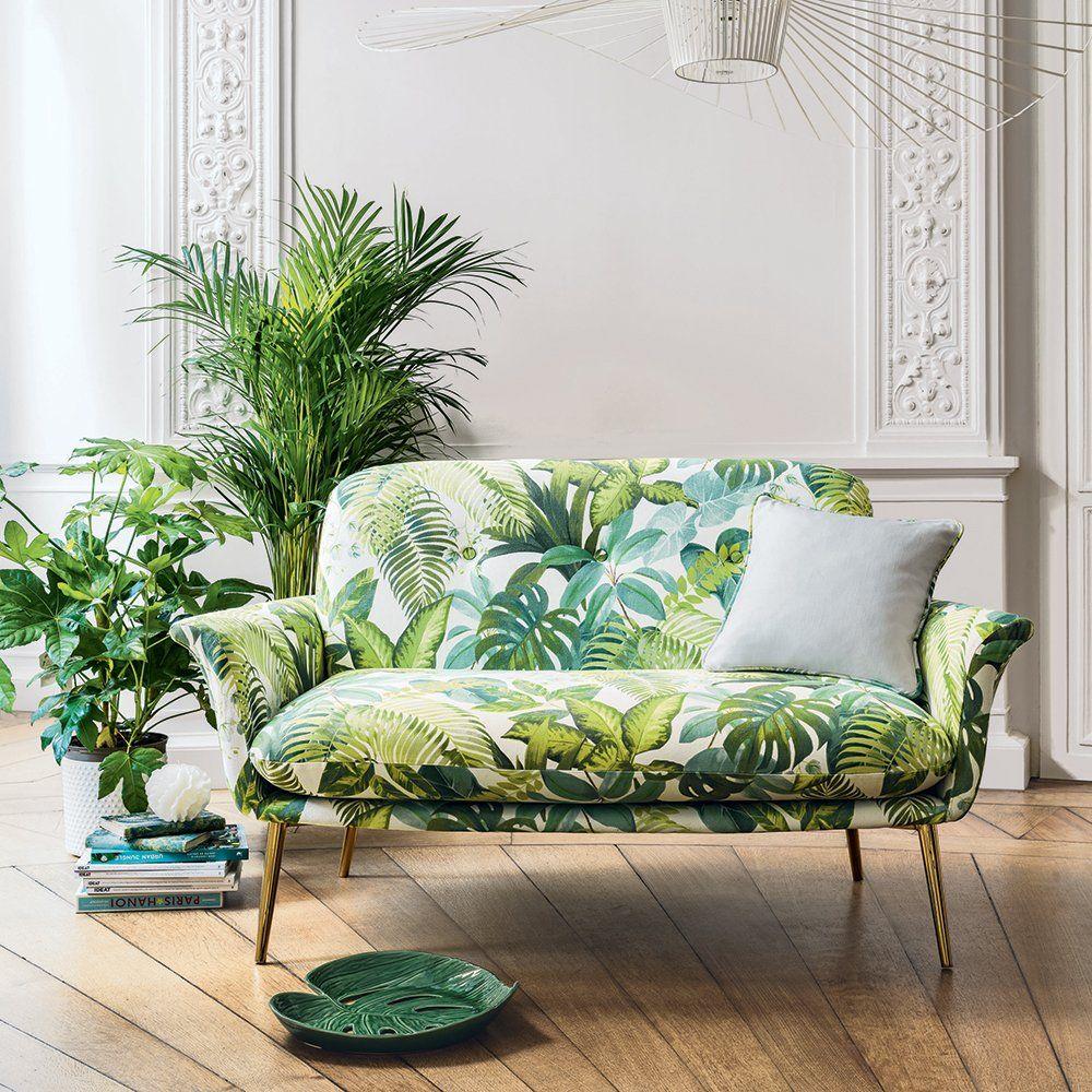 tissu tropical canapé Mobilier de salon, Décoration
