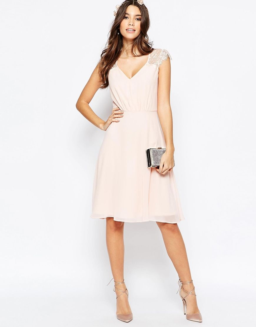 Image 4 of Elise Ryan Lace Midi Prom Dress | wedding | Pinterest ...