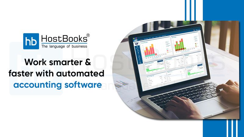 Using traditional #accounting software or spreadsheets can take up too much of your time. HostBooks automates your accounting processes and helps you work smarter and faster.  #Automation #AccountingSoftware #HostBooks #AutomatedAccountingSoftware #Bookkeeping  #CloudAccounting #CloudAccountingSoftware