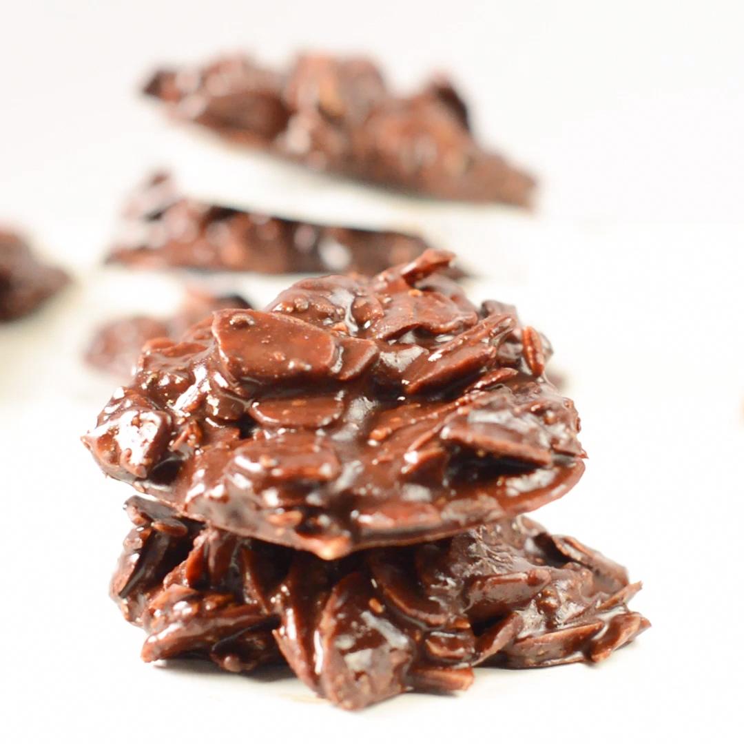 No bake Chocolate almond butter cookies - Sweetash