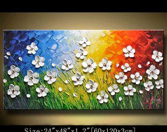 Original pintura abstracta pintura moderna textura for Peinture a la spatule