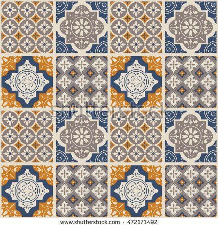 Decorative Tile Patterns Decorative Tile Pattern Designvector Illustration Texture