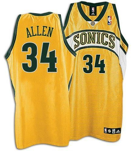 new style 852fb 0bea7 Ray Allen from The Seattle Supersonics | NBA Jerseys ...
