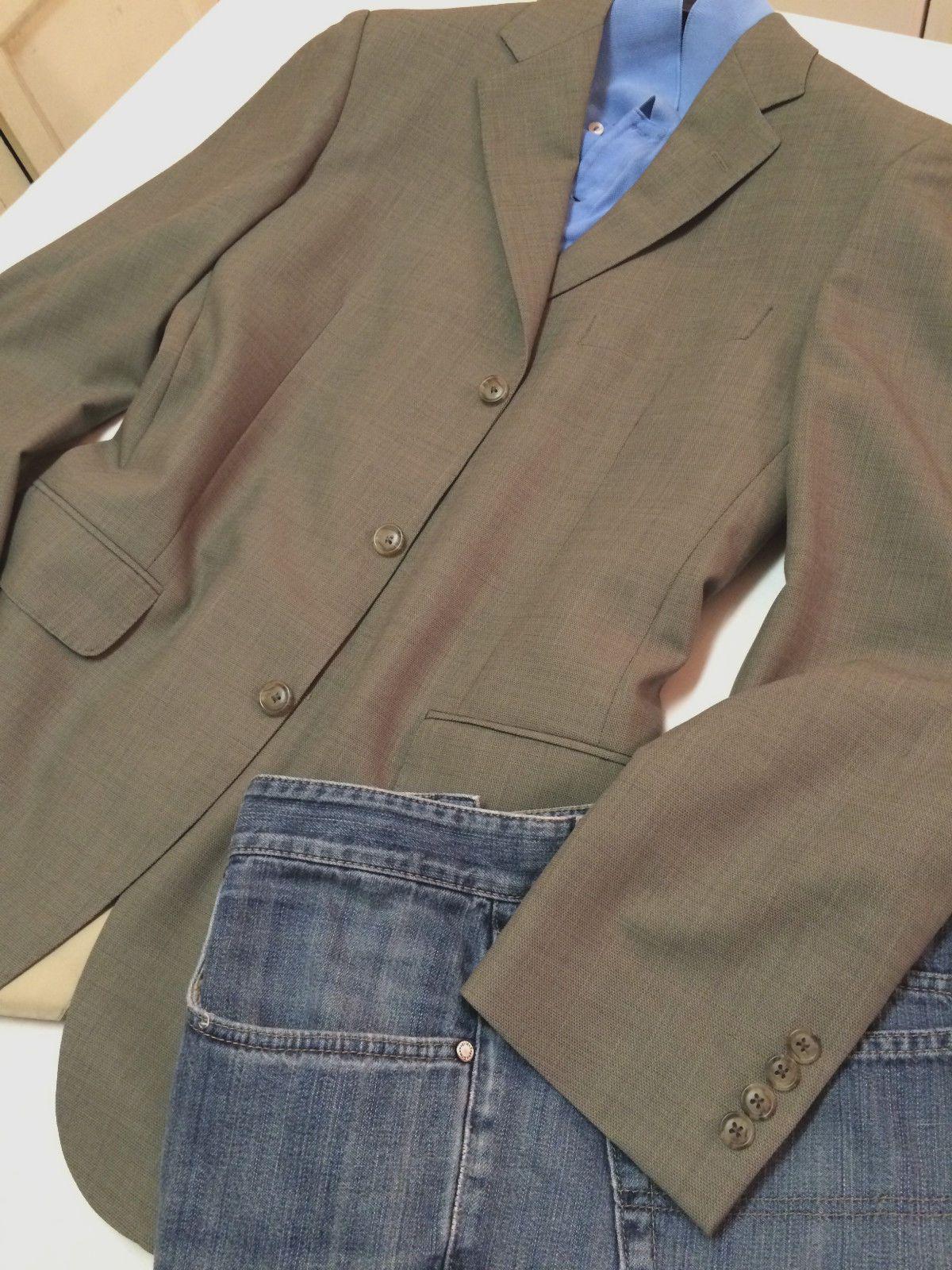 Samuelsohn Mens Sport Coat Jacket Blazer 40L Pale Green Italian Cloth 3 Button | eBay