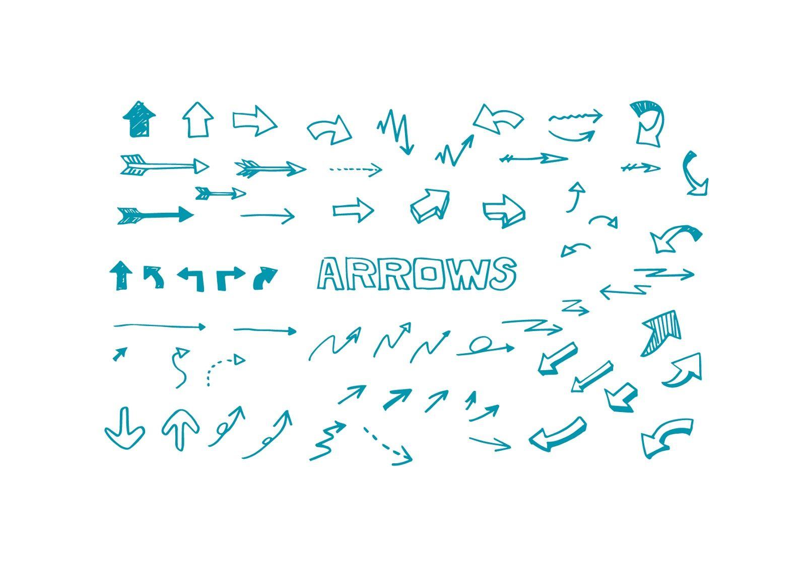 手書き矢印のイラスト素材です Arrows Drawing ベクターも含まれていますので 解像度を損なうことなくサイズや色の変更が可能です データ Jpg Png Ai はダウンロードボタンをクリック 手書き イラスト 素材