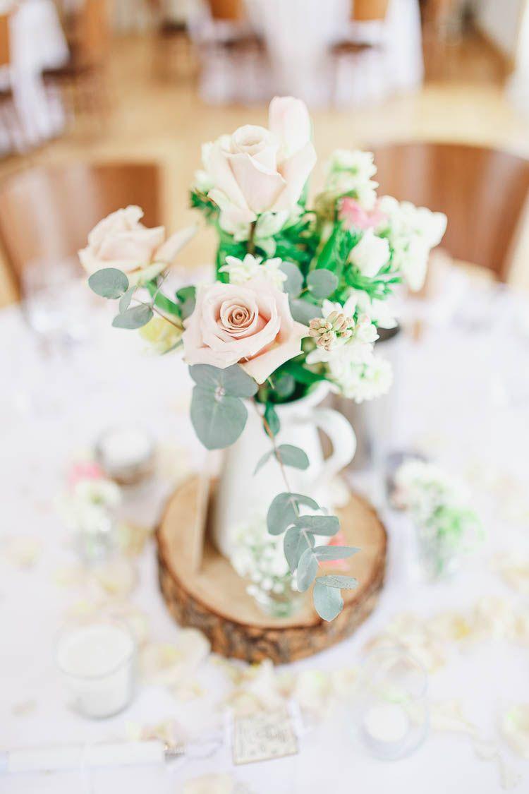 Beautiful & Rustic Fairy Lights Barn Wedding | Centerpieces, Barn ...