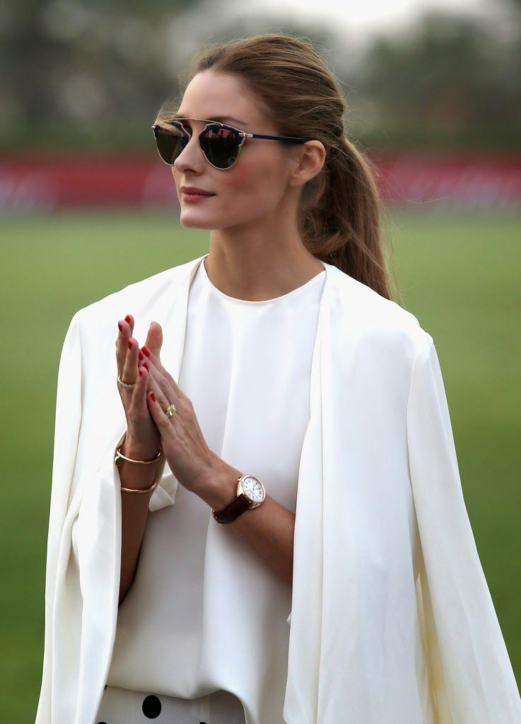 The Olivia Palermo Lookbook : Olivia Palermo At The 10th Anniversary of Cartier International Dubai Polo Challenge 2015 In Dubai