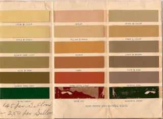 Below is a ca. 1900 paint brochure from the Masury Paint Company with a few of its sample chips: