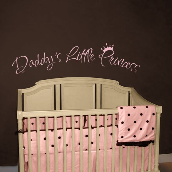 Daddy S Little Princess Quotes Wall Decals Nursery Baby