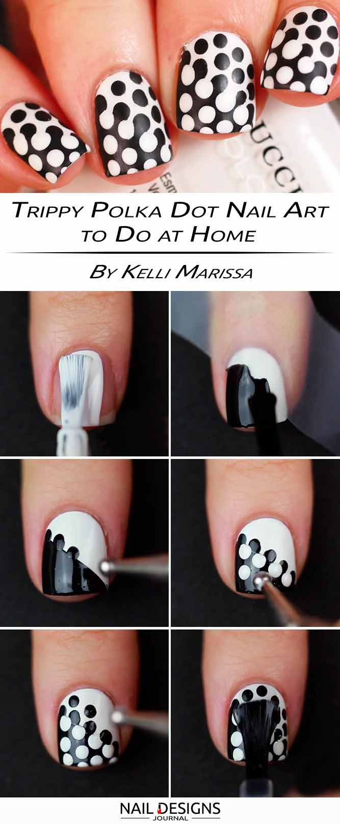 15 Step by Step Tutorials How to do Nail Designs at Home | Dot nail ...