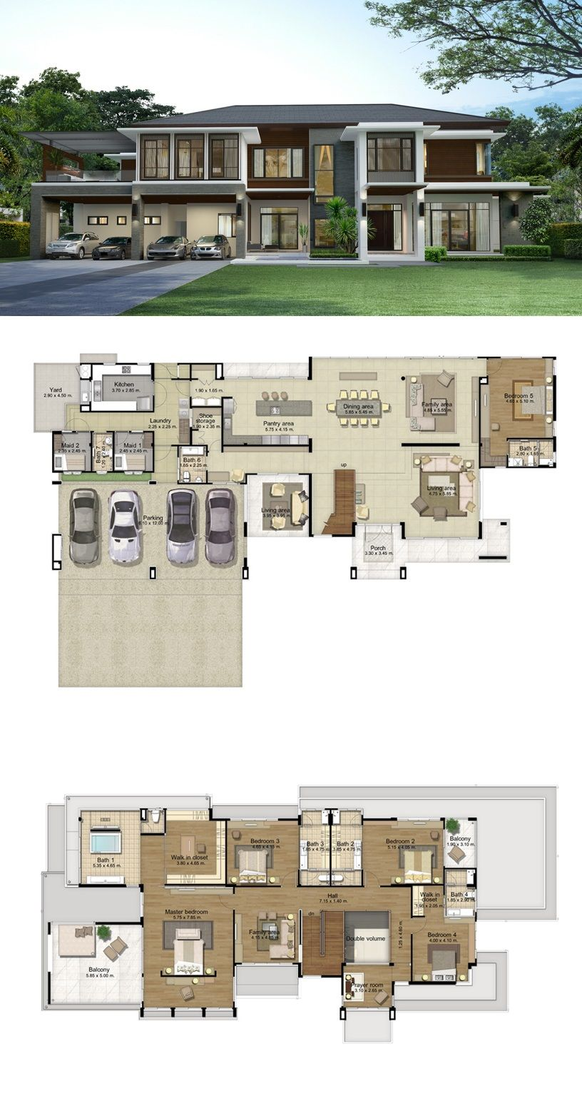 Land And Houses Modern House Plans House Plans House Layouts