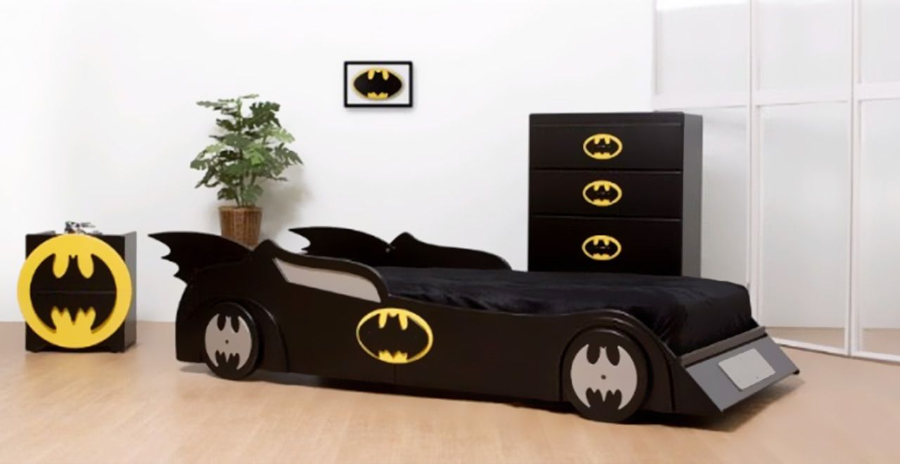 Bedroom Design Amazing Kids Bed With Racing Cars Models And Other Vehicles Batman Beds Furniture Kids Bedroom Themes Batman Bedroom Decor Boy Bedroom Design