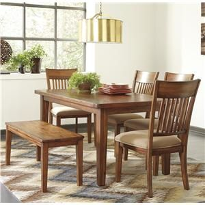 Signature Design By Ashley Shallibay 6 Piece Table Set With Bench With Images Rectangular Dining Room Table Dining Room Sets Rectangular Dining Table