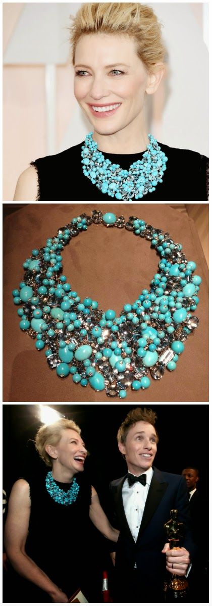 Cate Blanchett in an impressive Tiffany & Co turquoise statement necklace.: my Oscar favorites