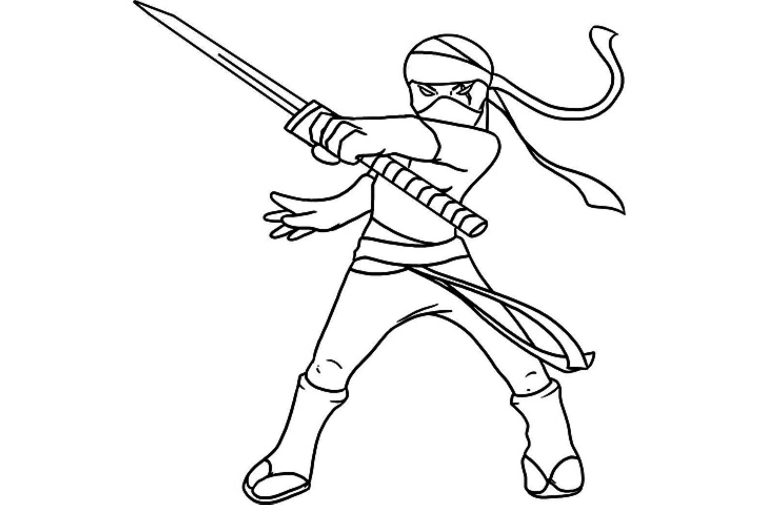Spotlight Ninja Coloring Pages For Adults